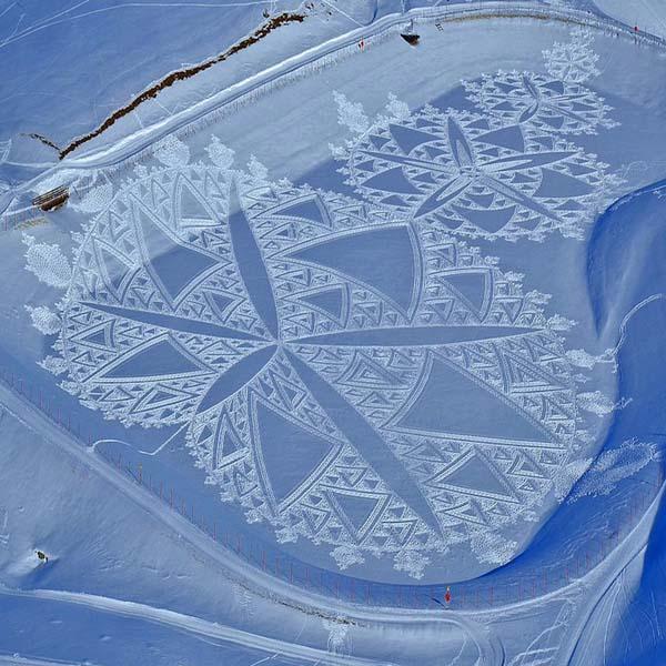 Geometría con papel, con arena… y en la nieve