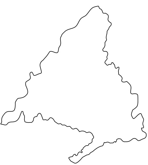 Mapa político mudo de la Comunidad de Madrid (Anaya) - Didactalia ...