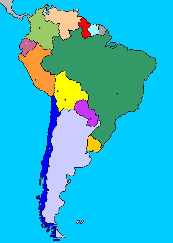 Mapa de sudamerica completo for Encimeras del sur
