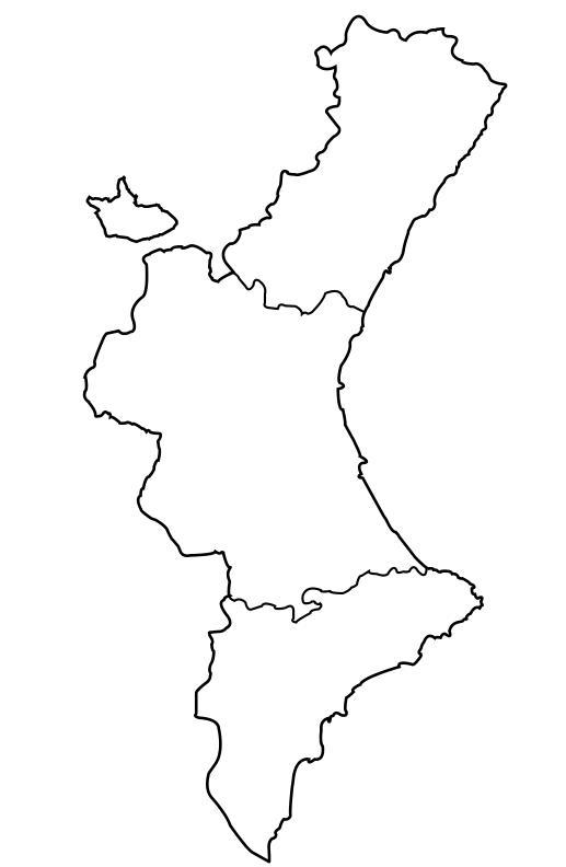Mapa interactivo de la Comunidad Valenciana Comarcas de la ...