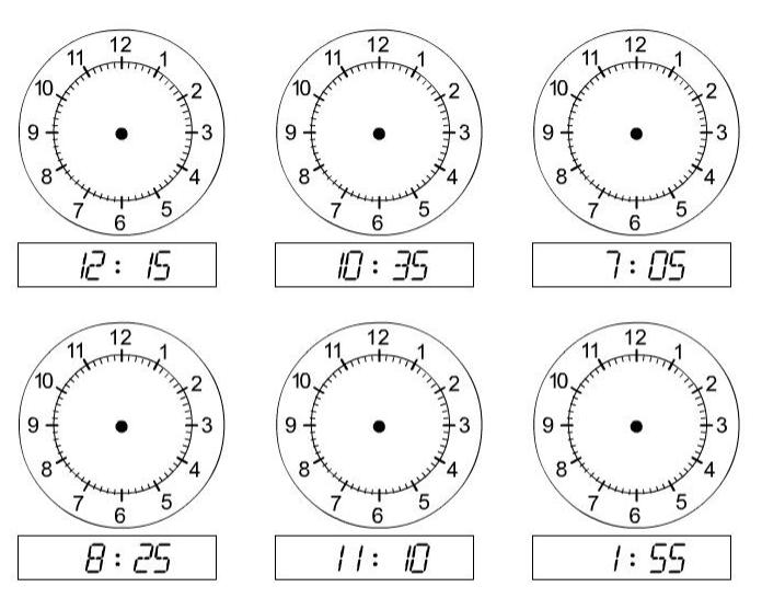 Generador de ejercicios sobre relojes (Time for time) - Didactalia ...
