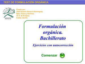 ejercicio formulacion organica bachillerato: